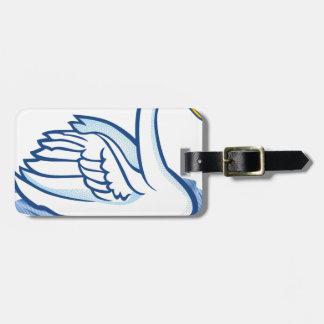 Swan #5 luggage tag