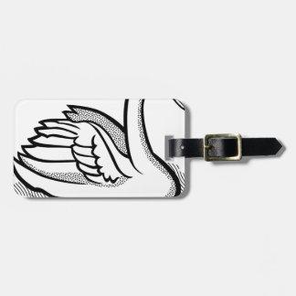 swan #6 luggage tag
