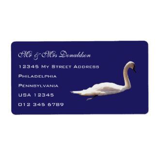 Swan Address Blue Labels