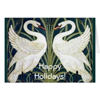 Swan and Rush and Iris wallpaper Card