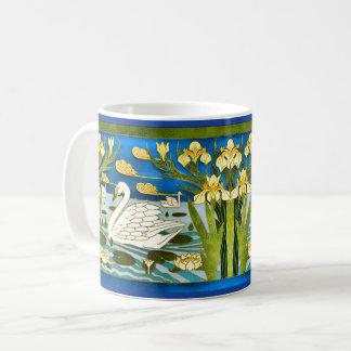 Swan Art Nouveau Coffee Mug