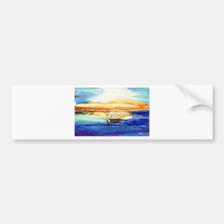 Swan at Sunset Bumper Sticker