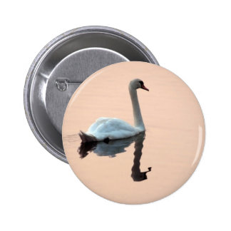 Swan at Sunset Button