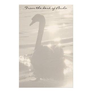 Swan Birds Wildlife Animals Personalised Stationery
