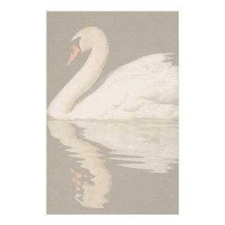 Swan Birds Wildlife Animals Stationery Design