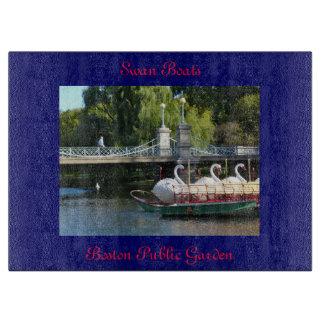 Swan Boats, Boston Public Garden Cutting Board
