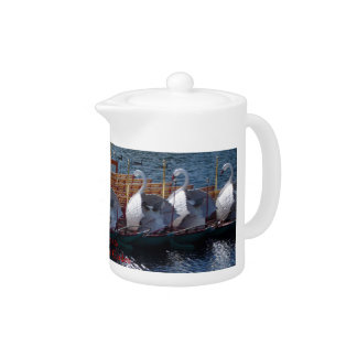 Swan Boats Boston Tea Pot