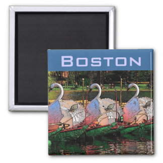 Swan Boats Magnet