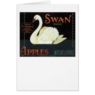 Swan Brand Apples Greeting Card