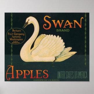 Swan Brand Apples Vintage Crate Label Posters