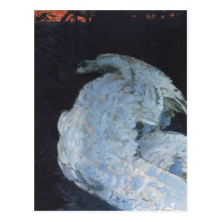 Swan by Mikhail Vrubel Postcard