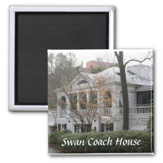 Swan Coach House Square Magnet