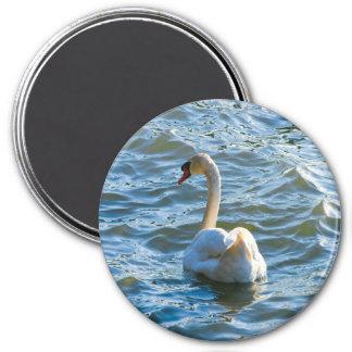 Swan - Customized 7.5 Cm Round Magnet
