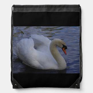 Swan Drawstring Backpack