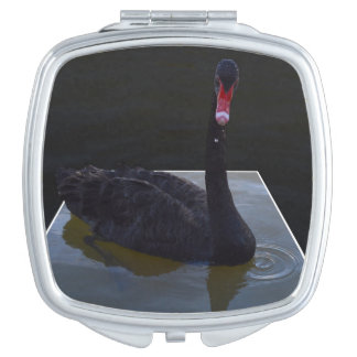 Swan,_Droplets_In_Pond,_Ladies_Compact_Mirror. Compact Mirrors