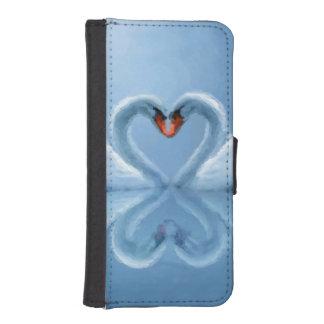 Swan Eternal Love iPhone 5 Wallet Case