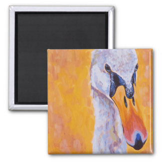 Swan Face Square Magnet