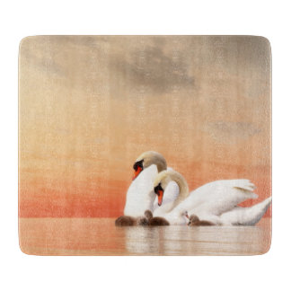 Swan family cutting board