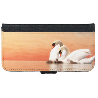 Swan family iPhone 6 wallet case