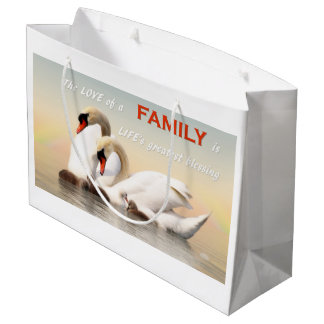 Swan family large gift bag