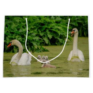 Swan Family Large Gift Bag