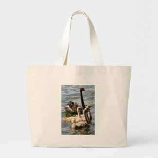 Swan Family Large Tote Bag