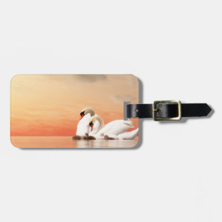 Swan family luggage tag