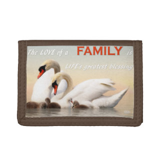 Swan family trifold wallet