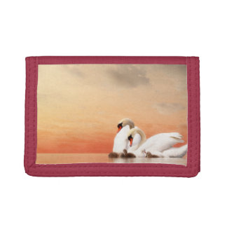 Swan family trifold wallets