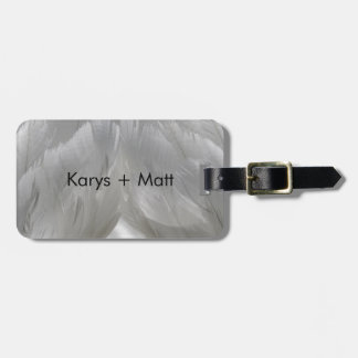 Swan Feathers Luggage Tag