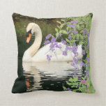 Swan & Flowers Pillow