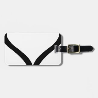Swan Heart Luggage Tag