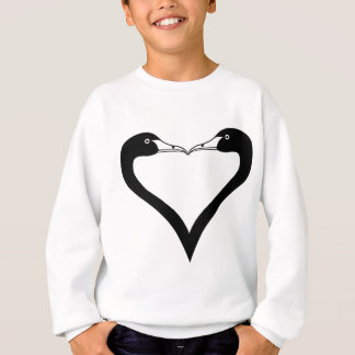 Swan Heart Sweatshirt