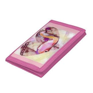 Swan Heart Tri-fold Wallet