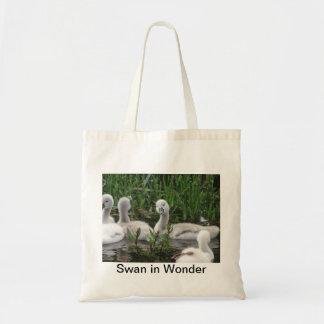 Swan in Wonder Tote Bag