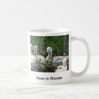 Swan in Wonder Basic White Mug