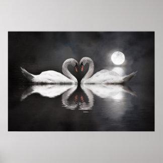 Swan lake love poster
