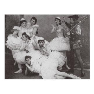 Swan Lake, Mariinsky Theatre, 1895 (b/w photo) Postcard