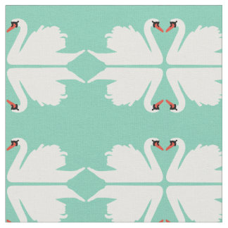 Swan Lake Mirror image Fabric