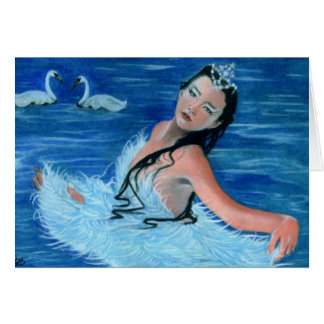 Swan Lake Princess Card
