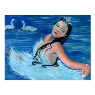 Swan Lake Princess Postcard
