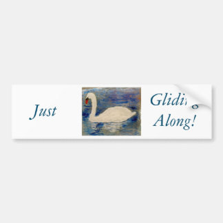 Swan Lake Reflections Bumper Sticker