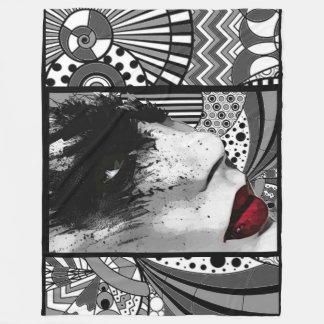 Swan lips Fleece Blanket