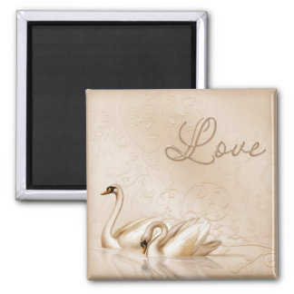 Swan Love Magnet