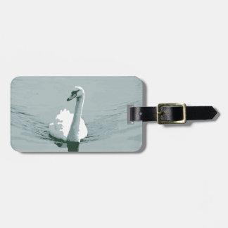 Swan Luggage Tag