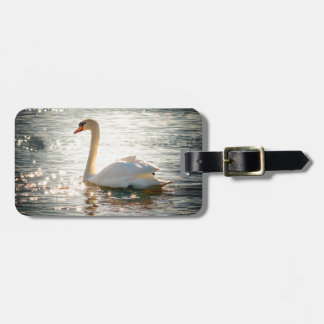 swan luggage tag
