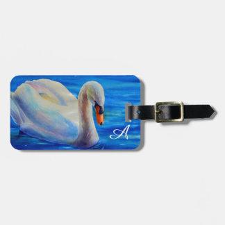 swan Monogram Bag Tag