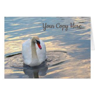 Swan on Blue Water Card