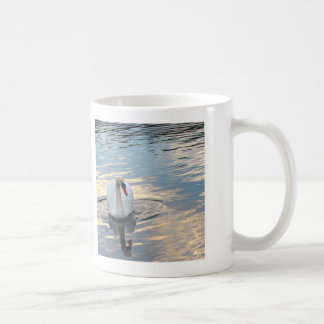 Swan on Blue Water Coffee Mug