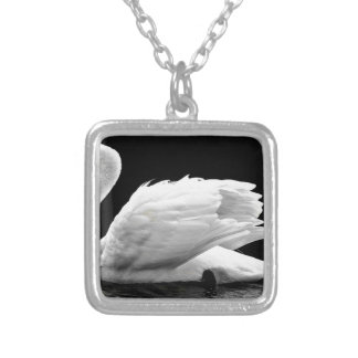 Swan On The Lake Silver Plated Necklace